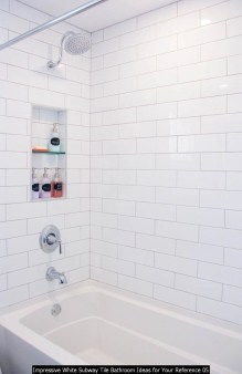 Impressive White Subway Tile Bathroom Ideas For Your Reference 05