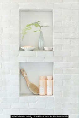 Impressive White Subway Tile Bathroom Ideas For Your Reference 39