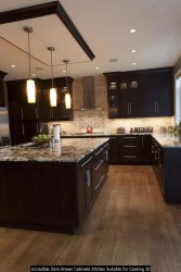 Incredible Dark Brown Cabinets Kitchen Suitable For Cooking 30