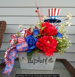 Last Minute 4th Of July Centerpiece Decoration Ideas 14