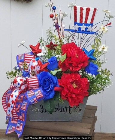 Last Minute 4th Of July Centerpiece Decoration Ideas 25