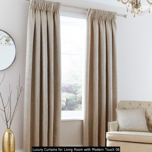 Luxury Curtains For Living Room With Modern Touch 06
