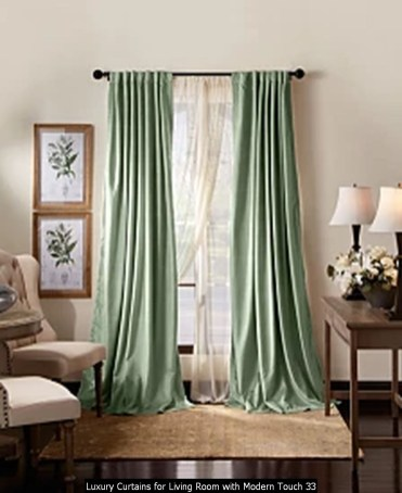 Luxury Curtains For Living Room With Modern Touch 33