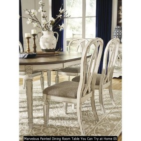 Marvelous Painted Dining Room Table You Can Try At Home 05