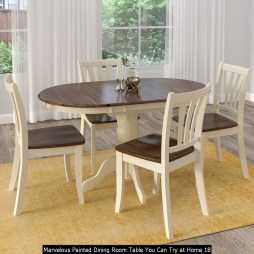 Marvelous Painted Dining Room Table You Can Try At Home 18