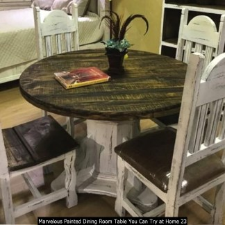 Marvelous Painted Dining Room Table You Can Try At Home 23