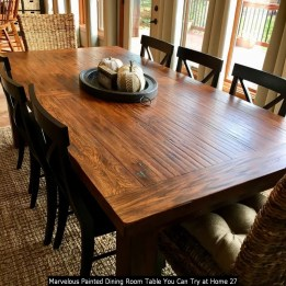 Marvelous Painted Dining Room Table You Can Try At Home 27