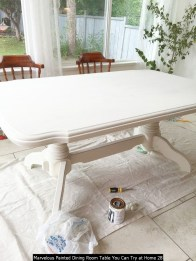 Marvelous Painted Dining Room Table You Can Try At Home 28