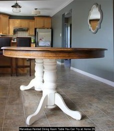 Marvelous Painted Dining Room Table You Can Try At Home 29