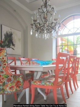 Marvelous Painted Dining Room Table You Can Try At Home 33