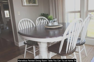 Marvelous Painted Dining Room Table You Can Try At Home 39