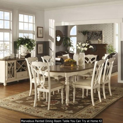 Marvelous Painted Dining Room Table You Can Try At Home 42
