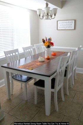 Marvelous Painted Dining Room Table You Can Try At Home 43
