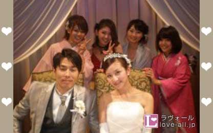袴田吉彦 河中あい 結婚式