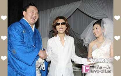 白鵬 YOSHIKI 結婚式