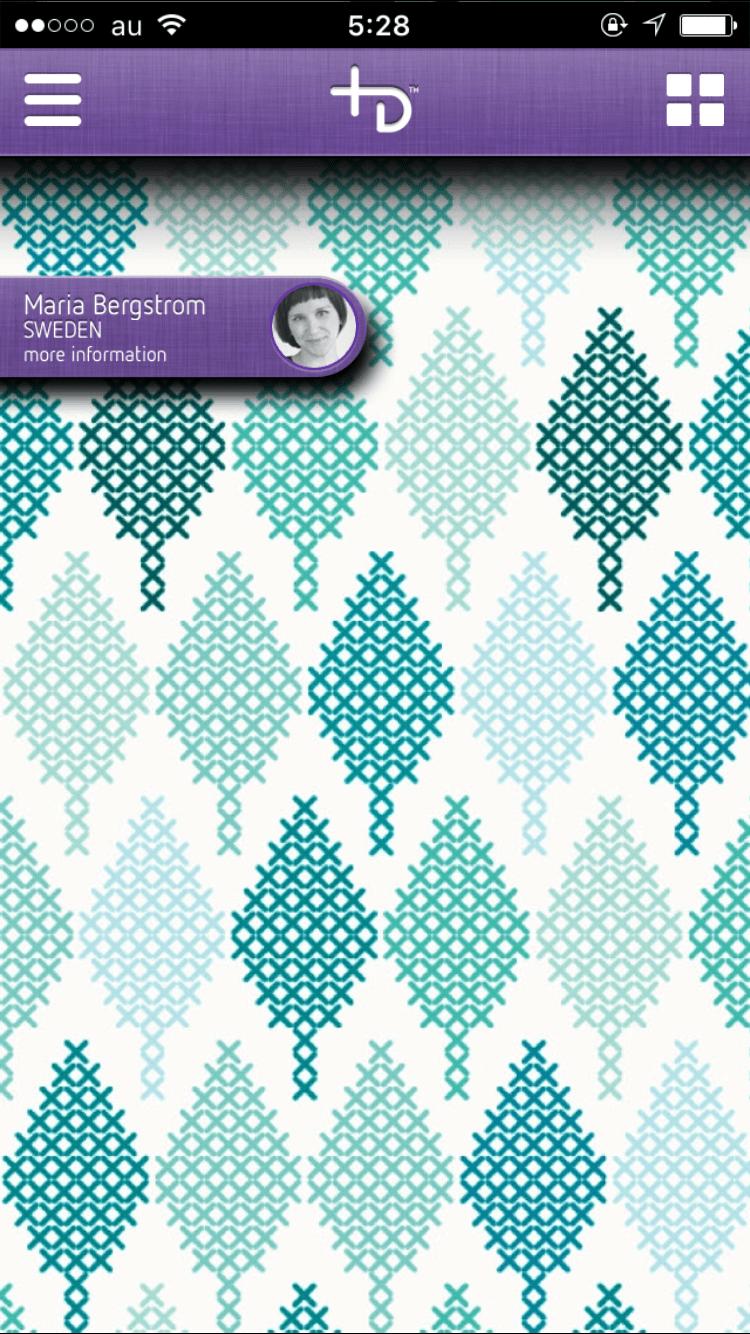 北欧テキスタイル風のiphone壁紙 無料 アプリ We Love Design