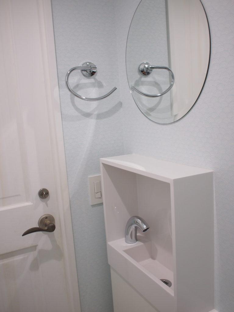 トイレ 手洗い プチ リフォーム リノベーション レプトインウォール