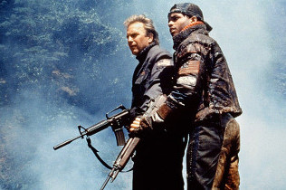 Kevin Costner and Larenz Tate