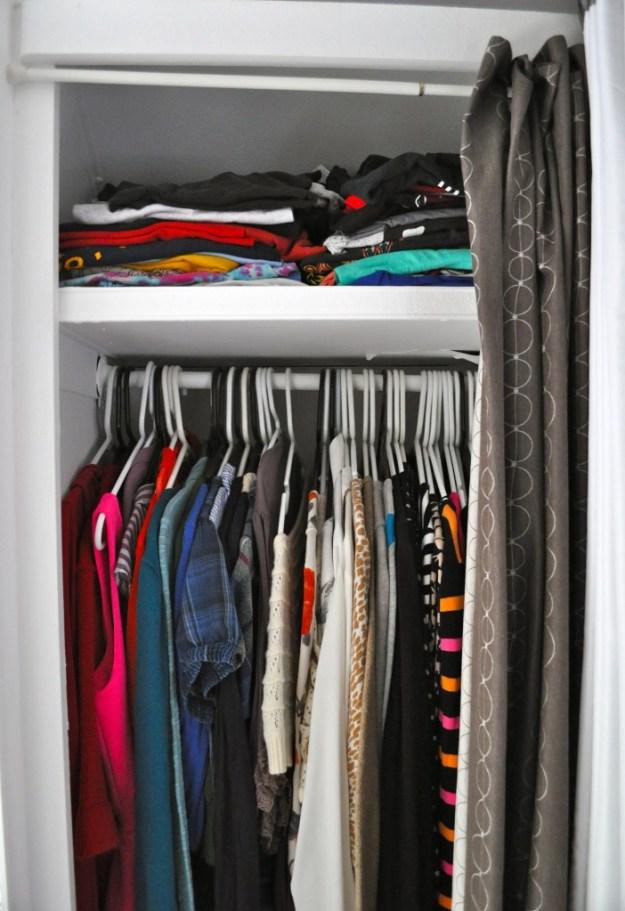 My teensie closet.