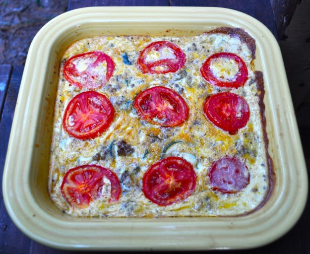 gluten free, dairy free quiche