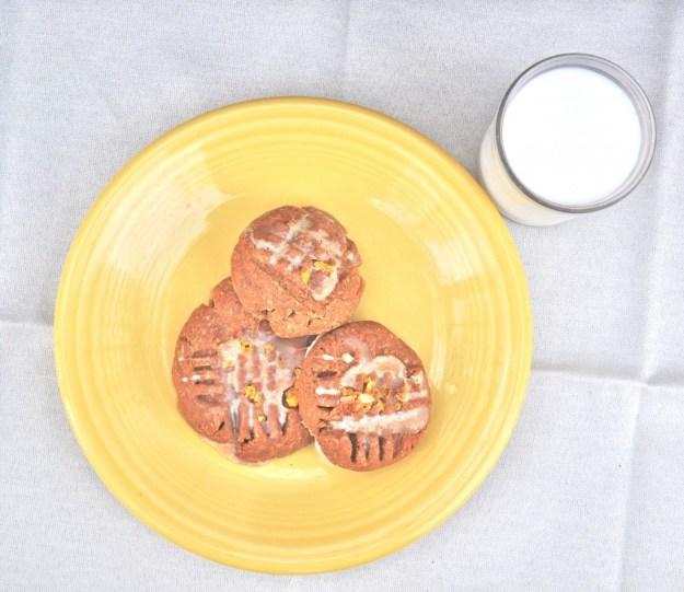 gluten-free cookies and milk