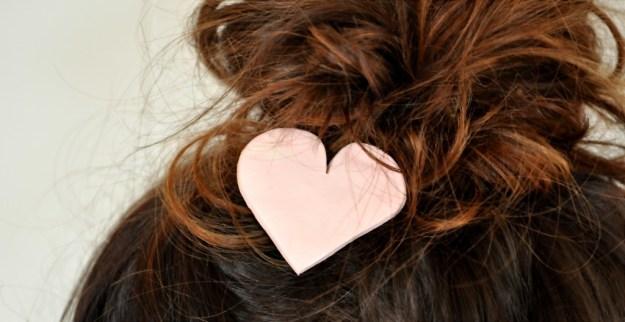 Polymer Clay Heart Hair Accessory DIY