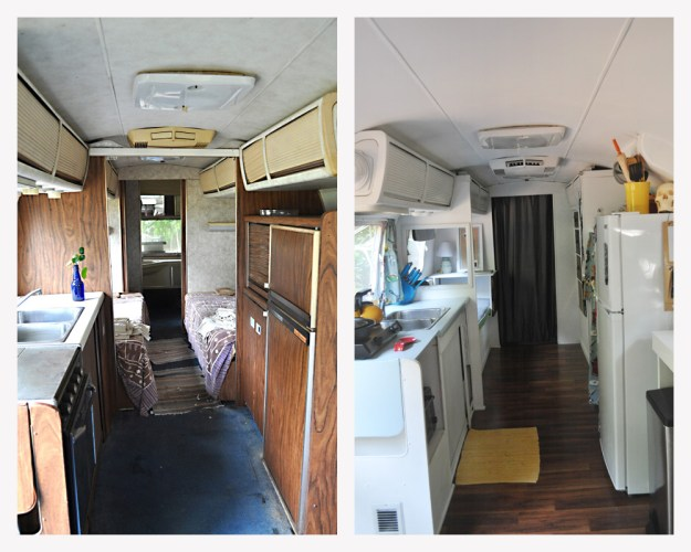 Airstream Back Before and After