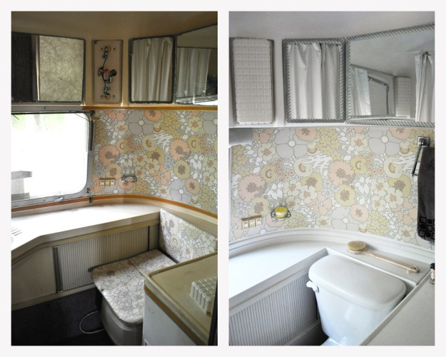 Airstream Bathroom Before and After
