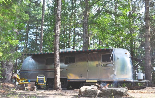 Airstream and fire pit