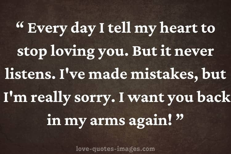 i m sorry quotes for him