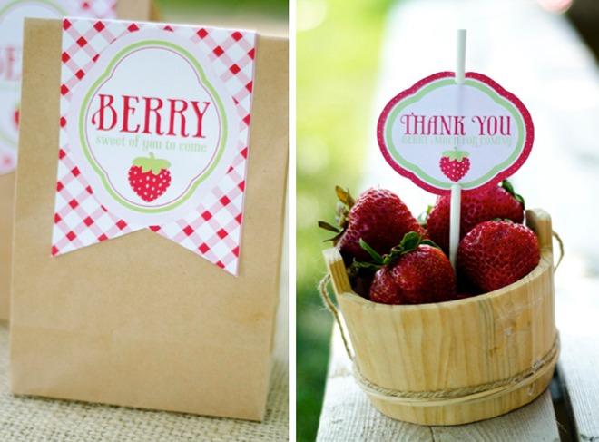 A Strawberry Birthday Party FOOD & FAVORS by Love The Day