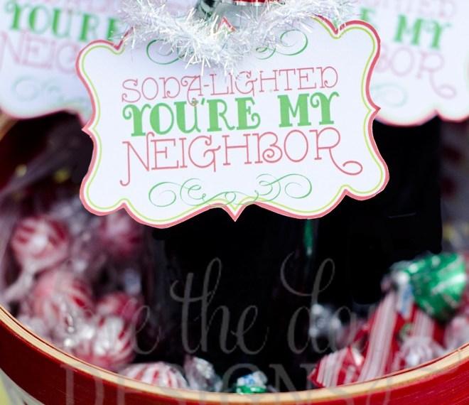 """""""Soda-Lighted You're My Neighbor"""" Christmas Printable by Lindi Haws"""