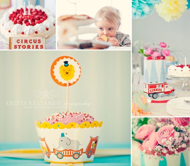 Vintage Circus Birthday Party Featured on Love The Day