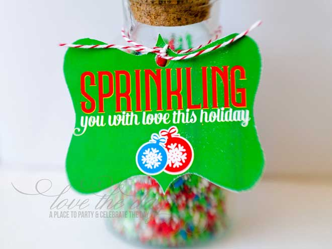 Sprinkles Christmas Neighbor Gift Idea & FREE Printable by Love The Day