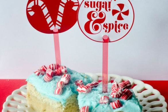 Peppermint Sugar Cookie Bars on Love The Day