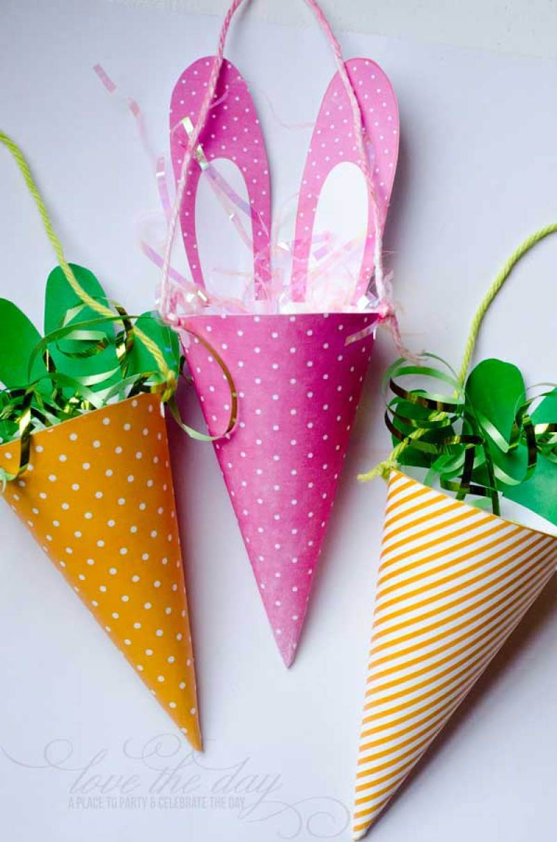 Free Printable Spring or Easter Candy Cones on Love the Day