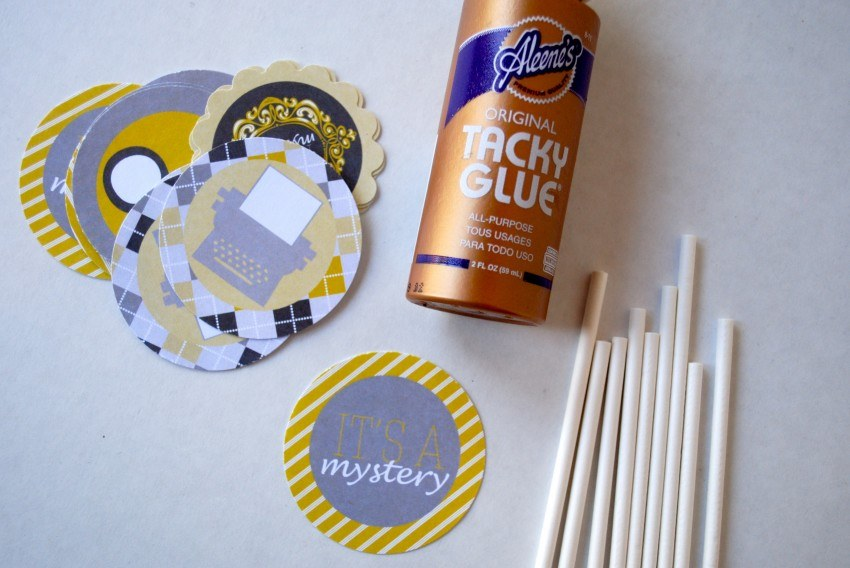 Assembling Cupcake Toppers - Tacky Glue