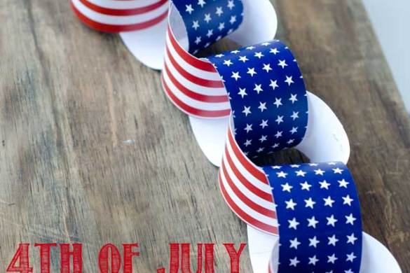 Fourth Of July Craft:: Patriotic Paper Chain, a Free Download by Love The Day