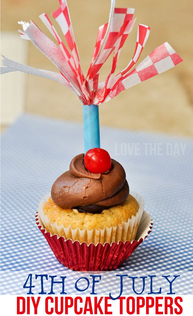 4th of July DIY Cupcake Topper Tutorial by Love The Day