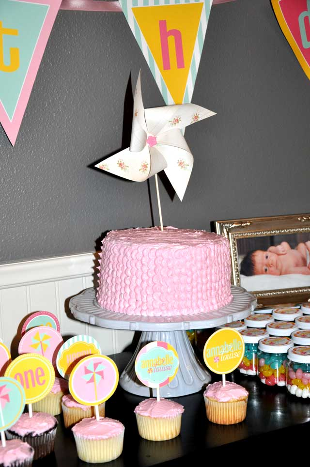 Pinwheel Party Cake
