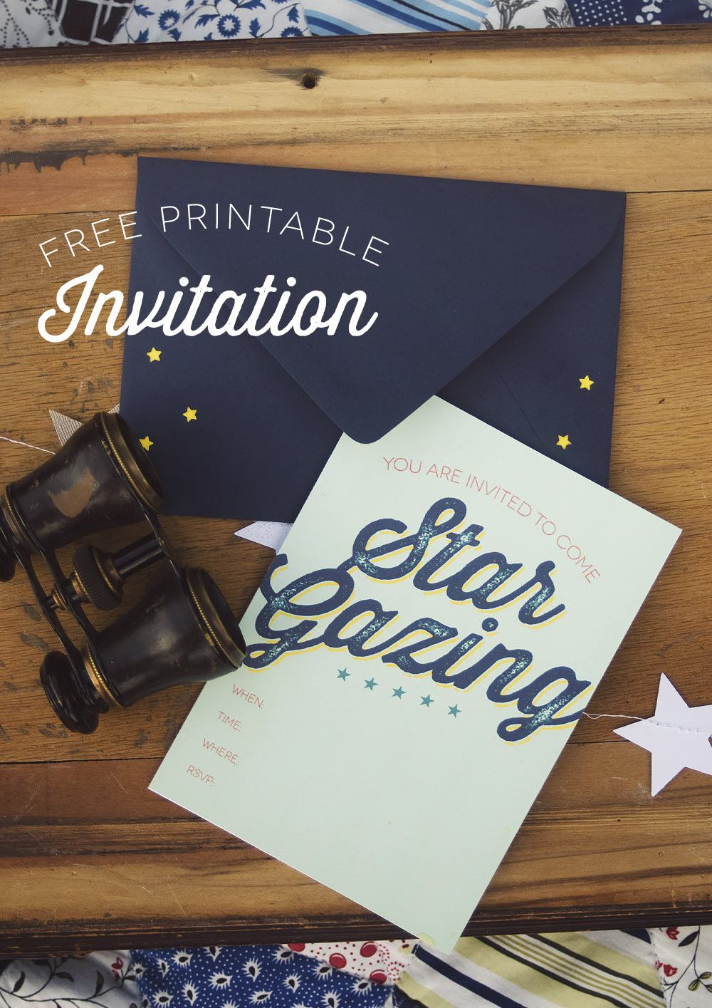 Star Gazing Party FREE Printable Invitation and Craft Tutorials