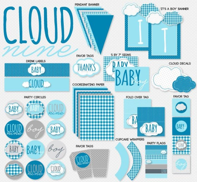 Cloud Nine Baby Shower by Lindi Haws of Love The Day