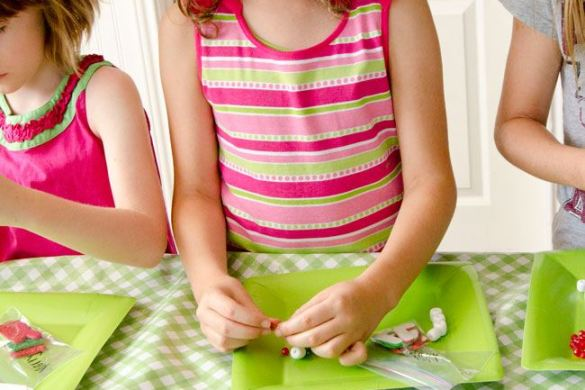 Watermelon Party Activities:: Homemade Necklaces