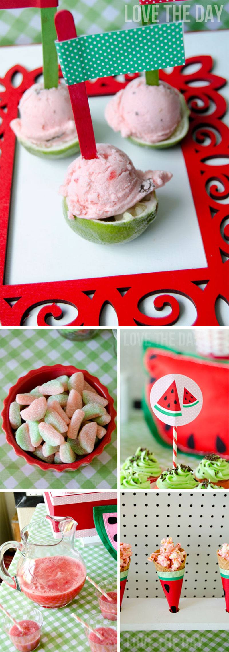 Watermelon Party Dessert Table by Lindi Haws of Love The Day
