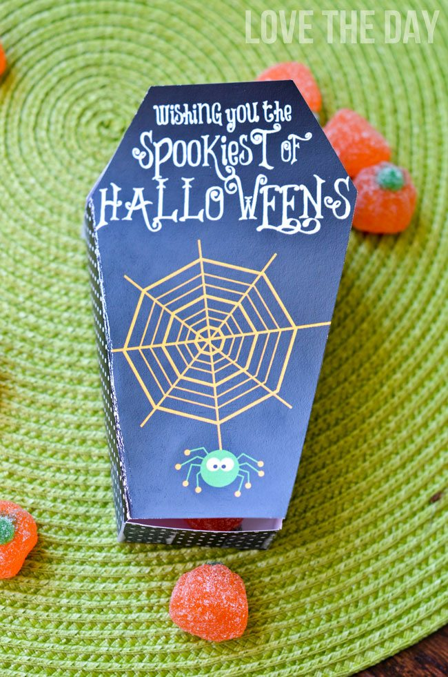 Halloween Coffin Template Box FREE PRINTABLE by Love The Day