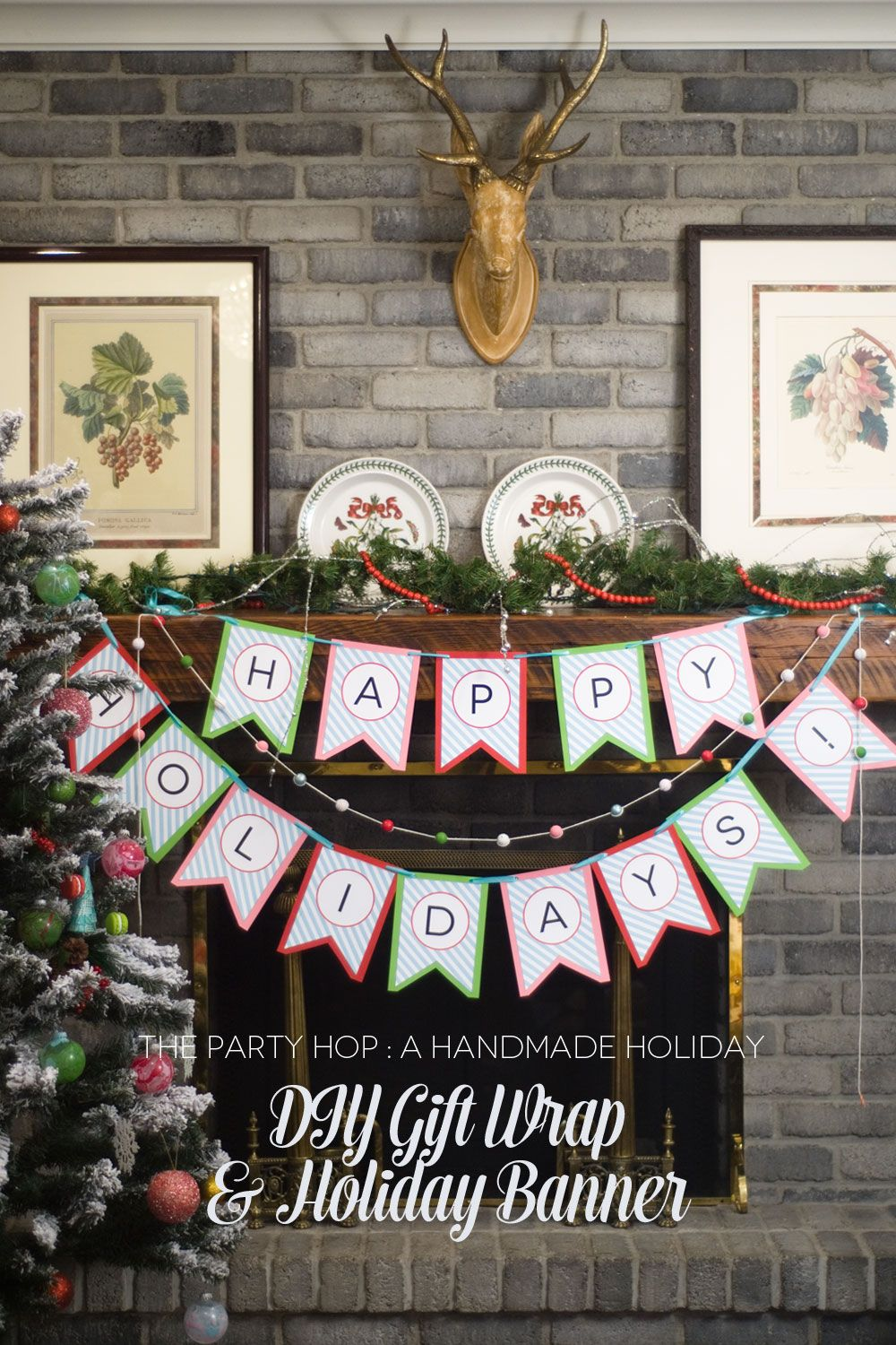 A Handmade Holiday Blog Hop:: DIY Holiday Banner by Paisley Petal Events