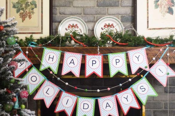 A Handmade Holiday Blog Hop:: DIY Holiday Banner by Paisley Petal Events