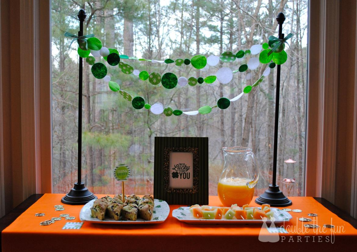 St. Patrick's Day Breakfast by Double The Fun Parties with Love The Day printables