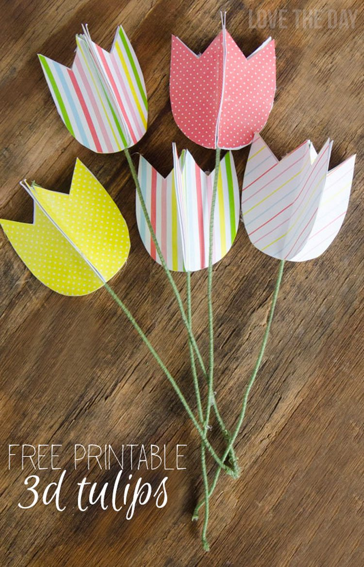 FREE Printable Tulips & Tutorial by Love The Day
