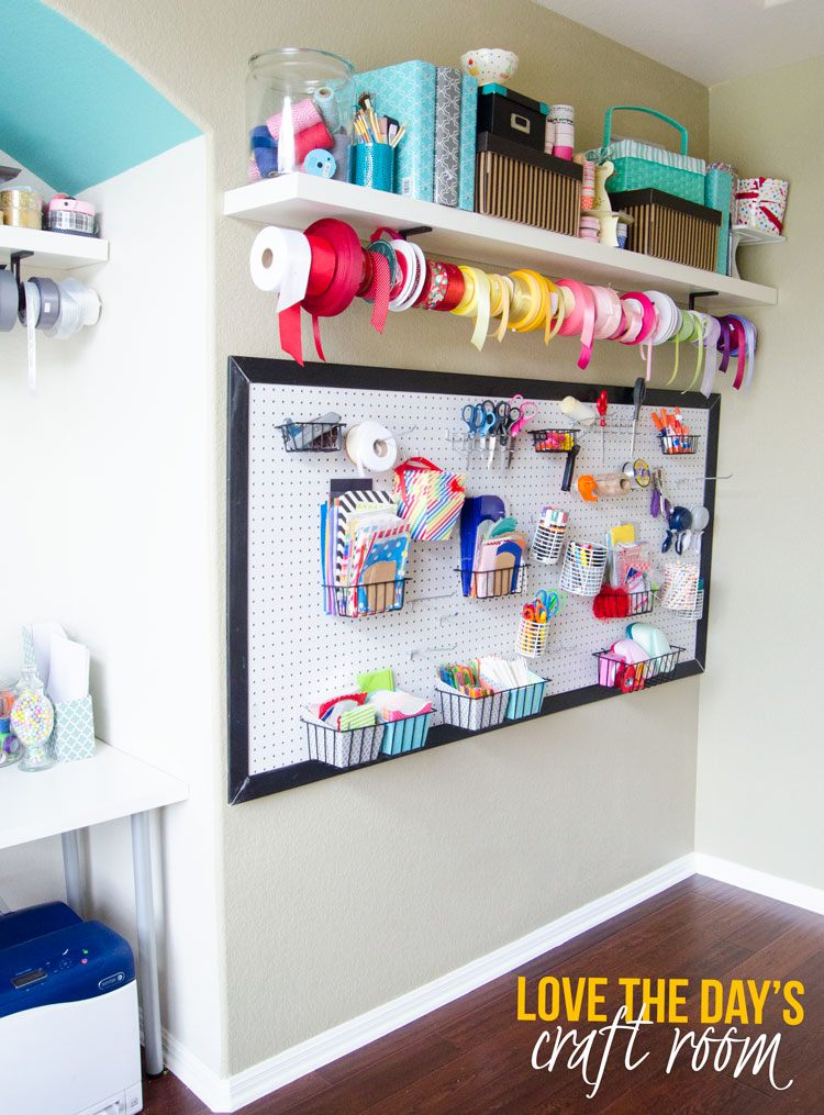 Craft Room Organization Ideas by Love The Day